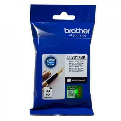 BROTHER LC-3317BK GENUINE BLACK INK CARTRIDGE (550 page yield) XI2-LC-3317BK NEW