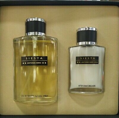 Set Siesta De Antonio Miro Eau De Toilette 120 Ml + After Shave Balsamo 60 Ml