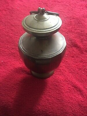 vintage brass container/bottle/flask/caddy