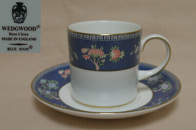 """Wedgwood """"Blue Siam"""" COFFEE CAN AND SAUCER"""