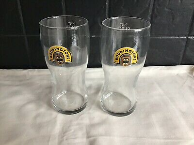 2 X BODDINGTONS GENUINE PINT GLASSES BRAND NEW WITH FREE POSTAGE