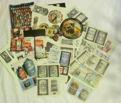Vintage Lot of Assorted Paper Clippings Ephemera Beer Alcohol Liquor