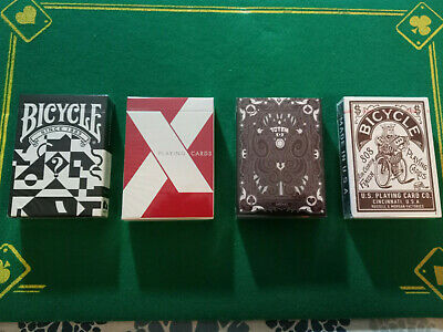 4 Special Decks Of Bicycle Playing Cards - New!