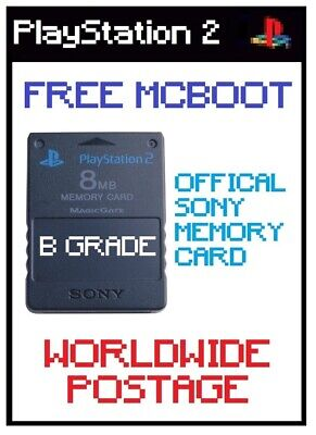 *B Grade* FMCB (Free Mcboot) Latest Version 1.966 / Official 8MB PS2 Memory Card