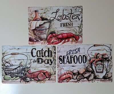 25 Variety Pack Of Paper Placemats Lobster, Shrimp, & Fish Designs Free Shipping