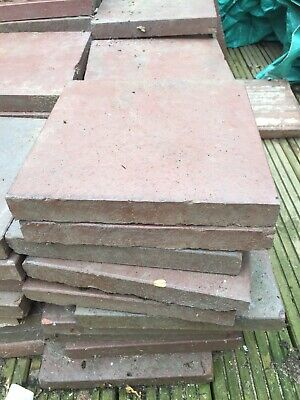 "Reclaimed Victorian Terracotta Quarry Floor Tiles 9"" x 9"". RED"