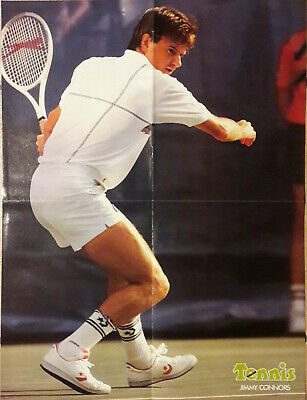 POSTER Tennis JIMMY CONNORS Année 1989  40 x 52 cm