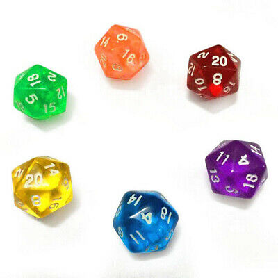 20pcs/Set Multi Sided Dice D20 Dungeons & Dragon TRPG Game Roleplay Resin RPG