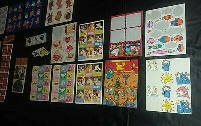 Vintage Very Large Lot Of Stickers