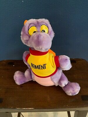 "Disneyland Walt Disney World Figment Purple Dragon Plush Toy 11"" Vintage"