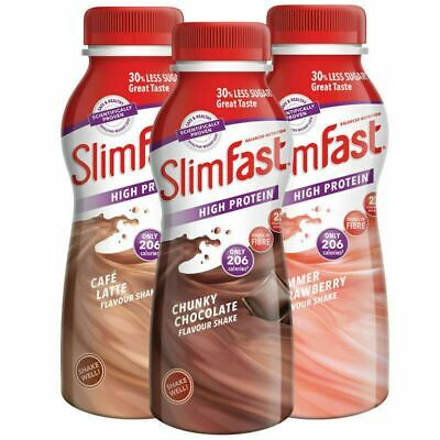 SlimFast Mixed Meal Replacement Shakes 18 X 325ml Free Delivery