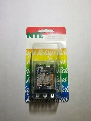 NEW NTE R10-14A10-12N 12 Volt AC Coil, 10 Amp 3PDT General Purpose Relay