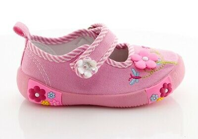 AMERICAN CLUB Girls Kids TODDLER Canvas shoes 7UK Real Leather insole TRAINERS