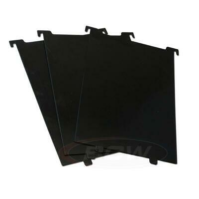 1 pack of 3 BCW Short Comic Bin Partitions- Black use with SHORT or LONG BIN