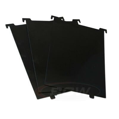3 packs of 3 BCW Short Comic Bin Partitions- Black use with SHORT or LONG BIN