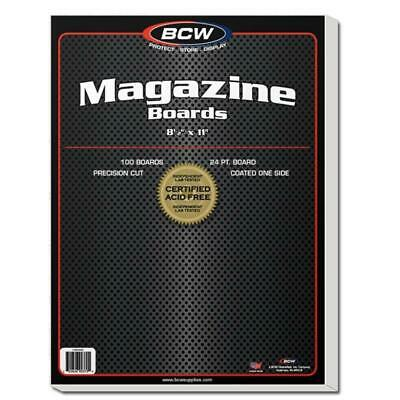 500 Bcw Magazine Size Acid Free Backing Boards And Resealable Bags