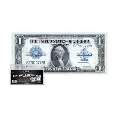 100 BCW Large Bill Currency Sleeves