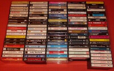 100 Film Soundtrack/Stage Show/Musical Cassette Tape Albums (Collection/Job Lot)