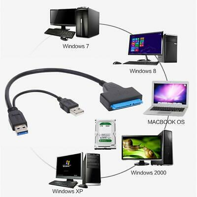 SATA to Dual USB3.0/2.0 High Speed Adapter Cable for External 2.5/3.5 inch HDD