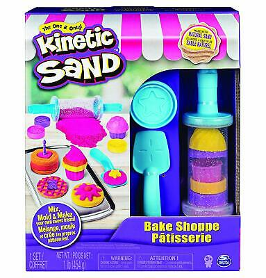 Kinetic Sand Bake Shop Playset 1lb Cookies Cupcakes Mix Molds Tools Rolling Pin