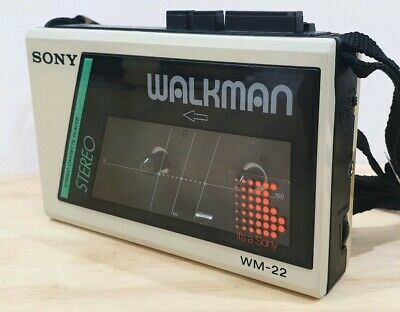 Collectable Sony Walkman WM-22 - WHITE ; TESTED FULLY WORKING