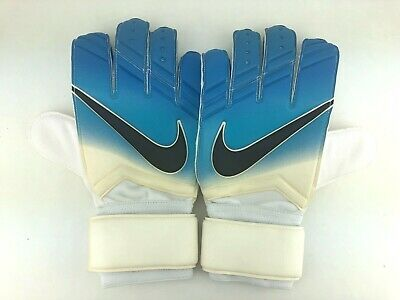 Nike GK Vapor Grip 3 Goalkeeper Soccer Gloves Blue White Mens PGS225-169 Sz 9.5
