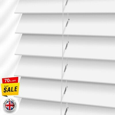 Faux Wood Wooden Blinds Blind 50mm Slats Made To Measure Up to 240cm x 240cm PVC