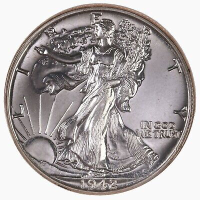 1942 Walking Liberty 50C NGC Certified PF65 Proof US Silver Half Dollar Coin