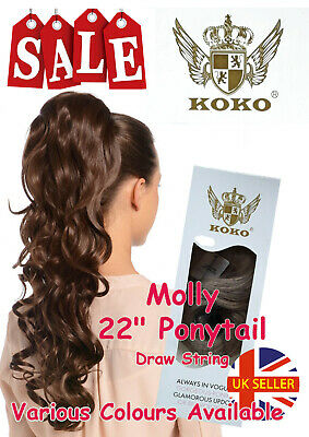 "Koko Molly 22"" Ponytail Draw String Wavey Updo Various Colours Clearance Sale"