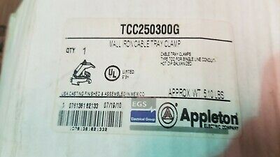 """Tcc-250300G Appleton Cable Tray Clamps 2-1/2"""" - 3"""""""
