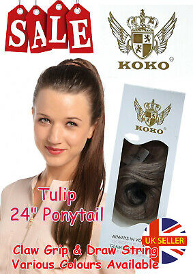 "Koko Tulip 24"" Ponytail Clip-In/Draw String Various Colours Clearance Sale"