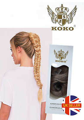 "Koko Fishtail 22"" Ponytail Draw String Cap/Clips Various Colours Clearance Sale"