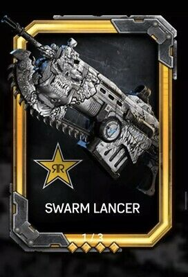 Walmart Exclusive Swarm Lancer Rockstar Weapon Skin Gears Of War 5 - (Code Sent)