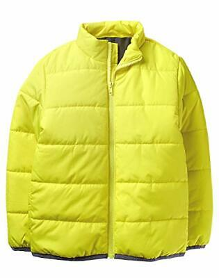 Crazy 8 Toddler Boys' Long Sleeve Zip Puffer Jacket, Bright Yellow, Size 4T