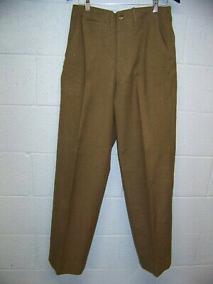 Post WWII U.S. Army Enlisted OD Olive Drab Pants Trousers Dated
