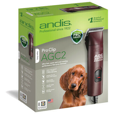 New Andis Burgundy Proclip Agc Super 2-speed Clipper For Pets 3400-4400 Spm