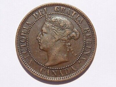1888 Canada Victoria Large Cent Xf Very Nice! Must See!!