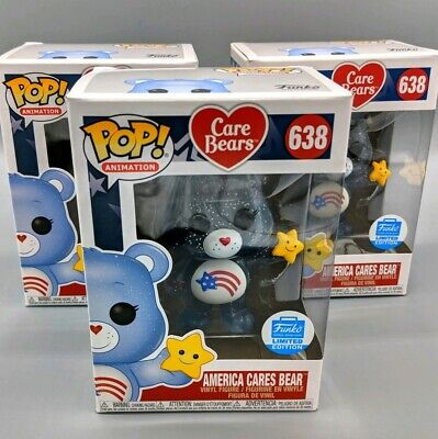 Funko POP! Animation #638 America Cares Bear Care Bears Funko Shop Exclusive