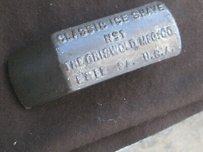 Antique Cast Iron Griswold No 1 CLASSIC Ice Shaver ERIE PA USA