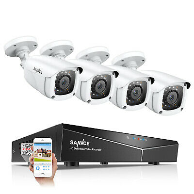 SANNCE 5in1 8CH 1080N DVR Outdoor 1080P Security Camera System IR Night Vision