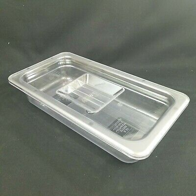 Winco Clear Plastic Food Container Refrigerator Storage Lunch Meats Bacon Cheese