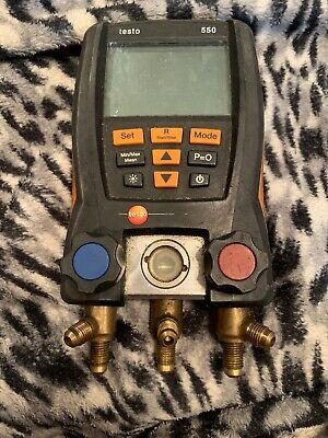 Testo 550 digital manifold Screen Only Shows Part Of The Digital Info