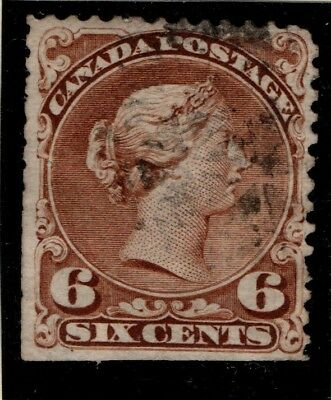 Canada 1868 1871 Queen Victoria 6 cent SG 59b Used See note