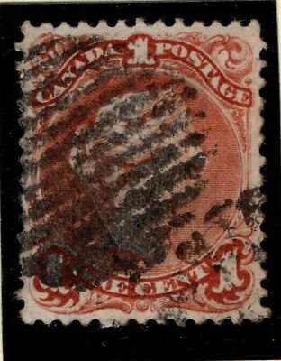 Canada 1868 1871 Queen Victoria 1 cent SG 55 Used