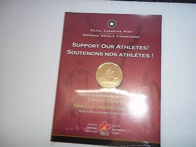 RCM 2004 CANADA ONE DOLLAR - SUPPORT OUR ATHLETES LUCKY LOONIE coin Canadian