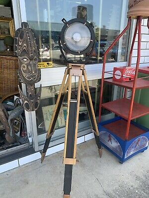 Genuine Maritime Ship Lamp On Tripod Stand