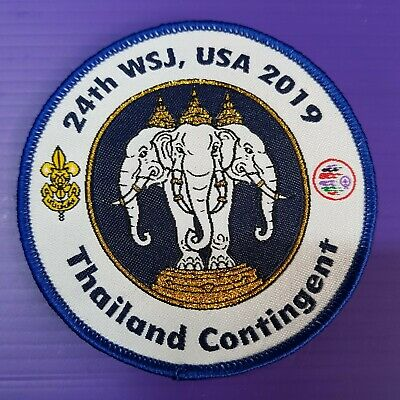 24th World Scout Jamboree 2019 Contingent Official PATCH / THAILAND  WSJ badge
