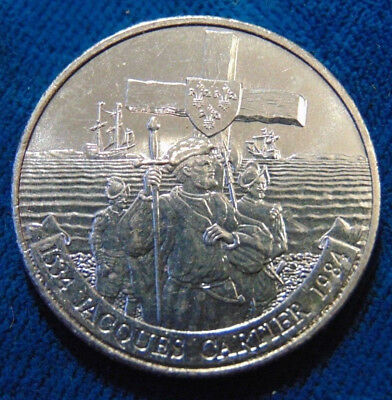 1984 Canada - Dollar - Jacques Cartier - Unc Crown - Km# 138