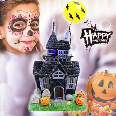 Halloween Decoration Spooky Haunted House Flashing Lights Sound Motion Sensor**