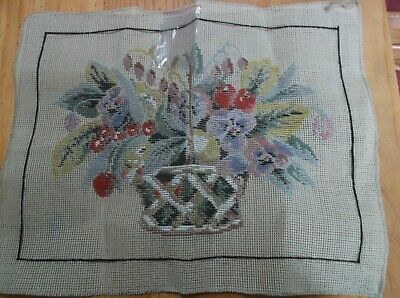 Unworked Trammed Tapestry Kit. Flowers In Pot